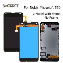 Original LCD Display For Nokia Microsoft Lumia 550 Touch Screen Digitizer Full Assembly Replacements Parts with Frame 4.7