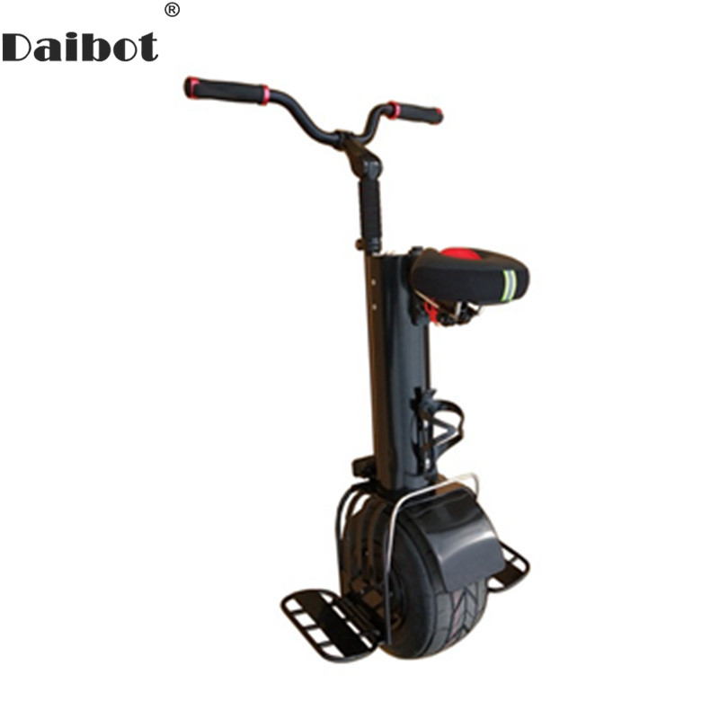 Scooters électriques Daibot adultes 10 pouces 60V auto équilibrage Scooters 500W Scooter monoroue électrique Portable avec siège