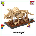 Mr.Froger LOZ Triceratops Diamond Block Creator Series Dinosaur Fossil Jurassic Building Blocks Classic Toy Bricks Animal Model