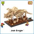 Mr. froger triceratops creador del bloque de diamante loz serie fósil de dinosaurio jurásico ladrillos bloques de construcción de juguete clásico modelo animal