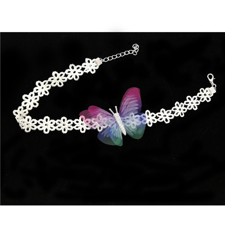 11 10PCS Colorful Butterfly For DIY Apparel Sewing & Fabric Lace Choker Necklace Women Clothing Sewing DIY Craft Supplies 30