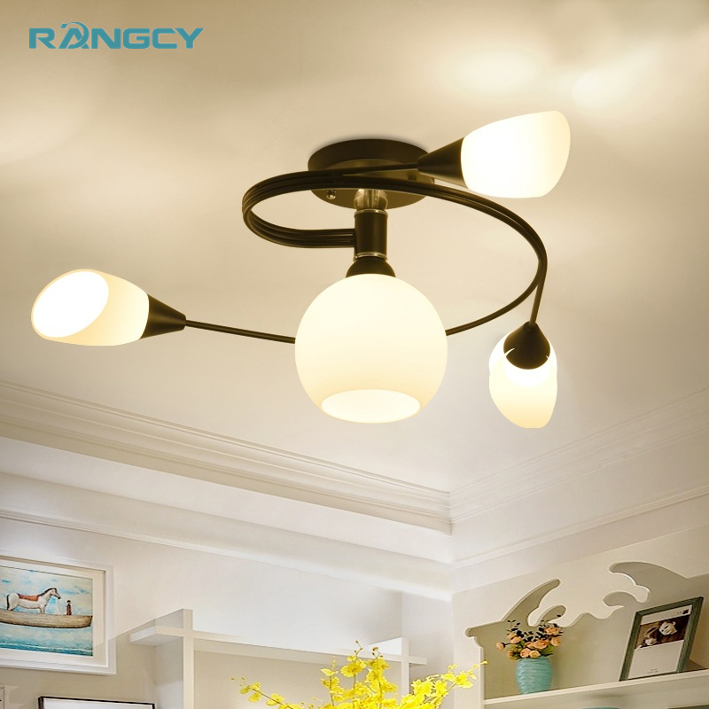 LED bulb light American style vintage restaurant ceiling lights black creative led ceiling lamp living room lighting fixtu e27 gilbert e big magic creative living beyond fear