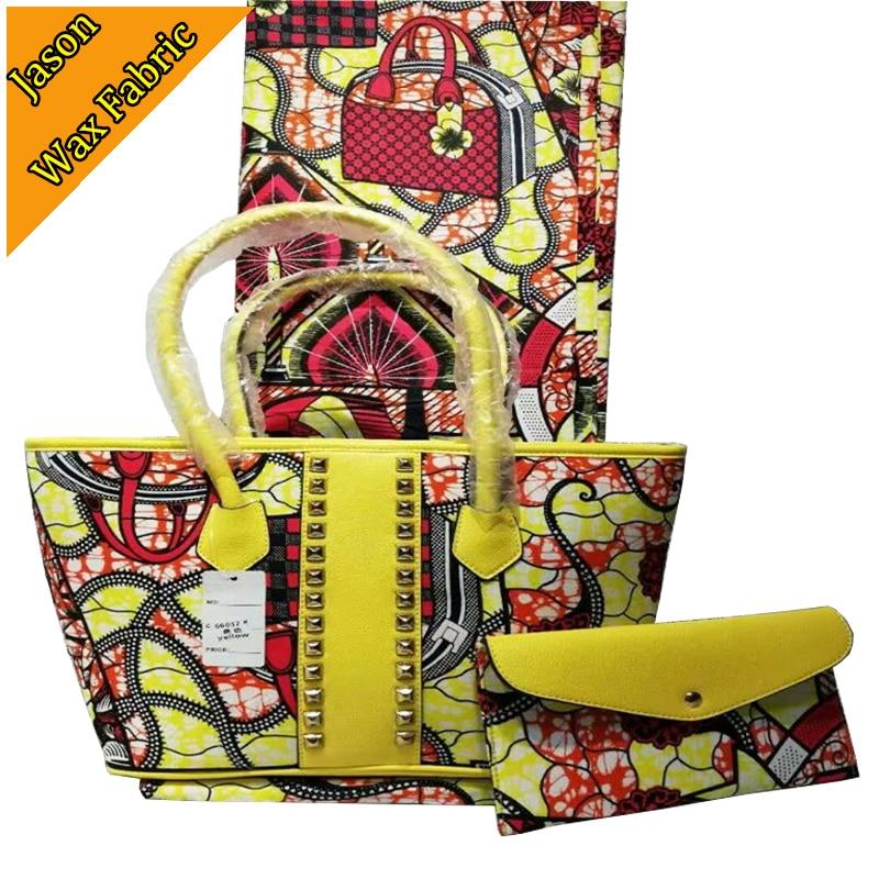 High quality african wax prints super wax Handbag match african 100 cotton ankara wax fabric 6yard