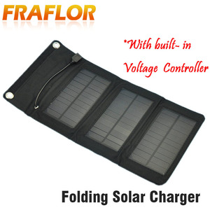 Image 1 - 5.5V 5W Portable Folding Solar Panel Charger Battery Charger USB Output With Build in voltage Controller Pack for Phones PSP MP4