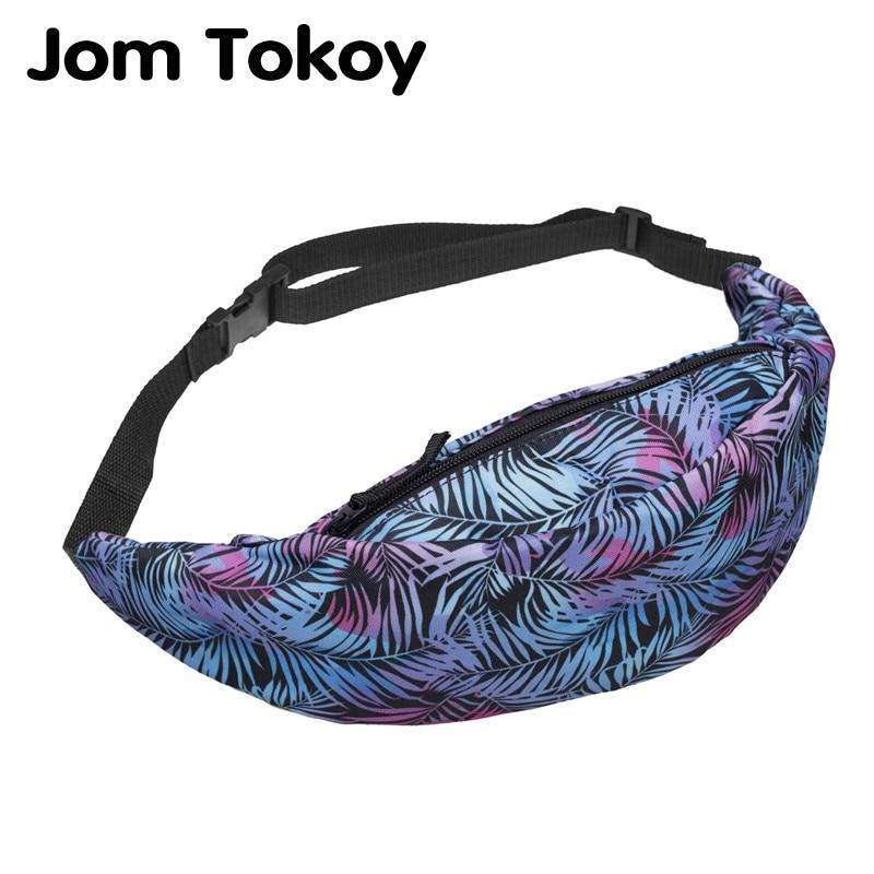 Jom Tokoy Women Waist Pack Cactus Heat Transfer Printing Fanny Packs 2019 New Waist Bag Fashion Bum Bag Travelling Bag