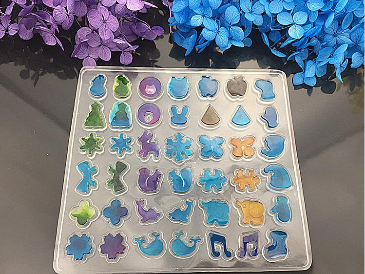 42 Patterns Multi Design Clear Silicone Mold For Making Jewelry Stud Earrings DIY Mold R ...