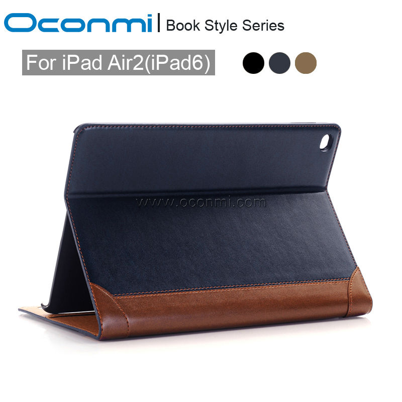 Luxury Book Leather case for Apple iPad air 2 with stand high quality flip leather cover smart case for iPad air2 wallet sleeves coque fundas for apple ipad air ii 2 pu leather stand luxury new cover case for ipad 6 a1566 a1567 9 7 inch cartton wallet shell