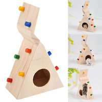 Multi Function Hamsters Pet Toy Natural Wooden Colorful Scaling Ladder Fun Toy For Pet Rat Hamsters