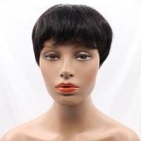 New Haircuts None Lace Short Human Hair Wigs For Women Brazilian Short Human Hair Wigs Machine