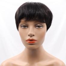 New Haircuts None Lace Short Human Hair Wigs For Women Brazilian Short Human Hair Wigs Machine Made None Lace Human Hair