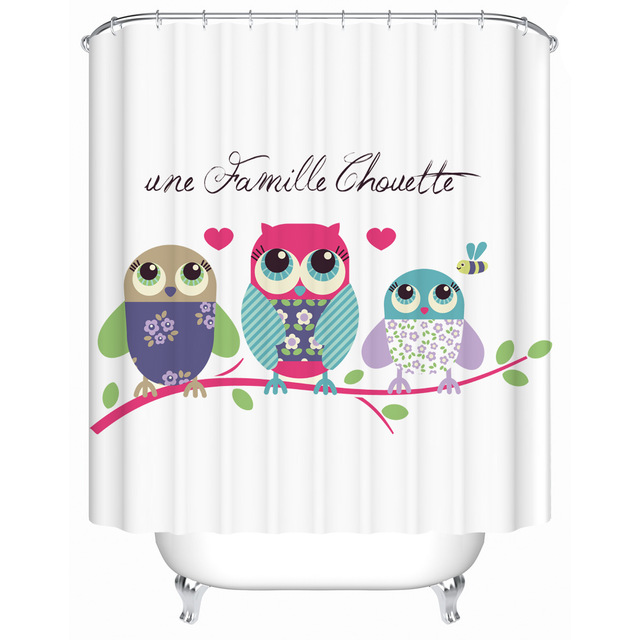 Curtains Ideas bird shower curtain hooks : Compare Prices on Shower Curtain Owl- Online Shopping/Buy Low ...