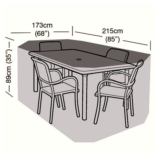 4 seater rectangular patio set cover 215cm 84 6 garden furniture cover water proofed cover for outdoor furniture
