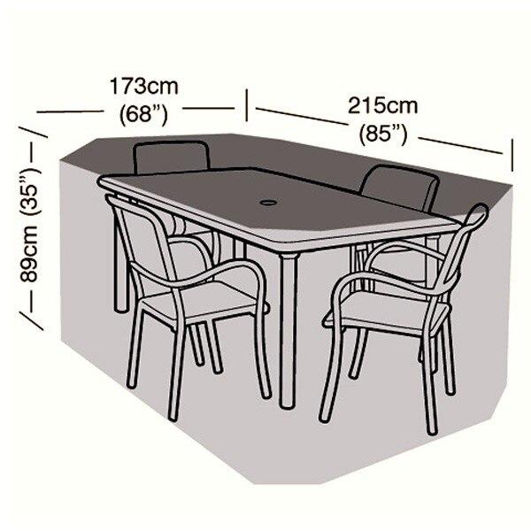 4 Seater Rectangular Patio Set Cover   215cm/84.6u0026quot;,garden Furniture  Cover,