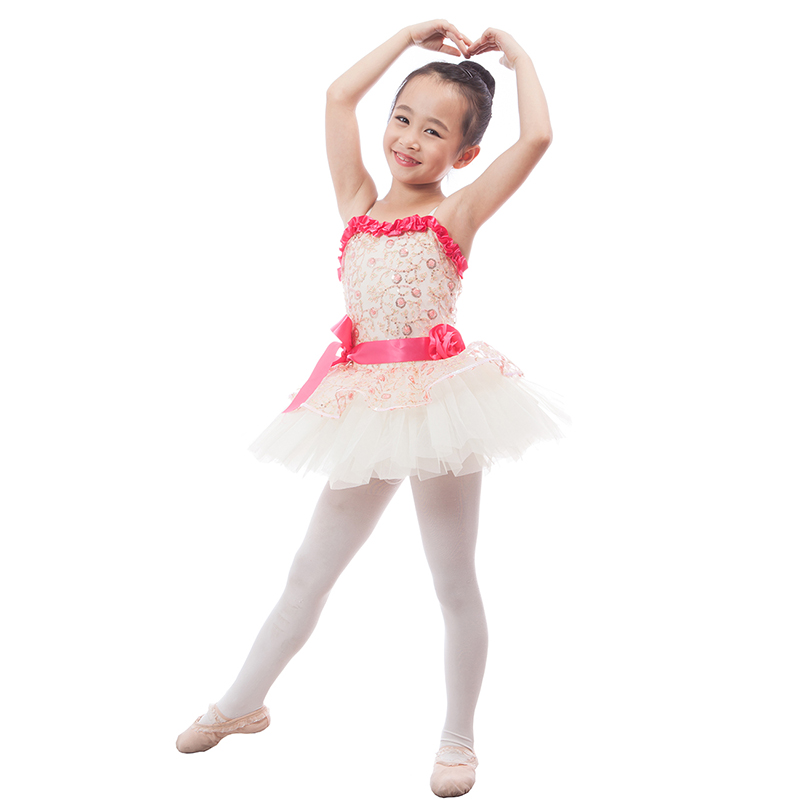 fdd85dc34 New Lovely White Child Ballet Tutu Dancewear Silver Sequin Bodice ...