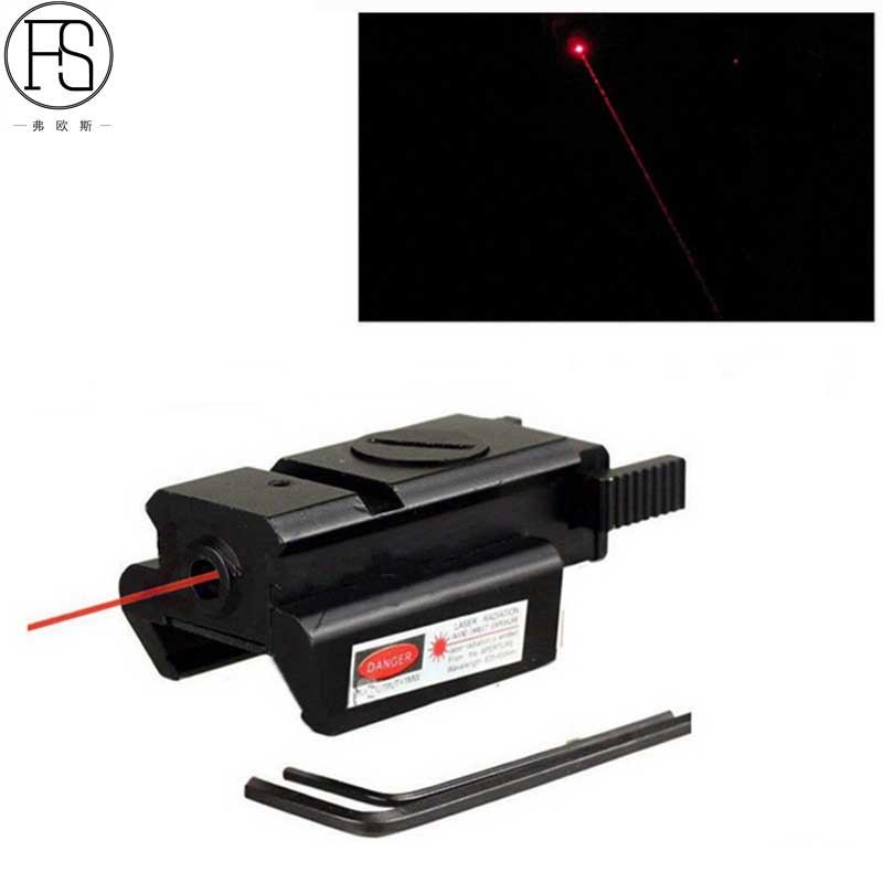 Tactical Red Dot Laser Sight Scope Compact Pistol 532nm 20mm Rail Hunting Shooting Airsoft For 1911 G17 19 20 21 22 23 30 31 32