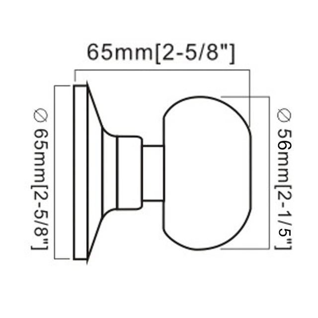 Probrico 1-10 PCS Wholesale price Door Knob For Interior Door Stainless Steel Half-Dummy Satin Nickel Door Handle DL5766SNDM