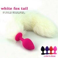 Nowy biały fox tail anal plug mała silikonowa buttplug sexo dilator stymulator dog tail butt plug anus sex zabawki dla kobieta