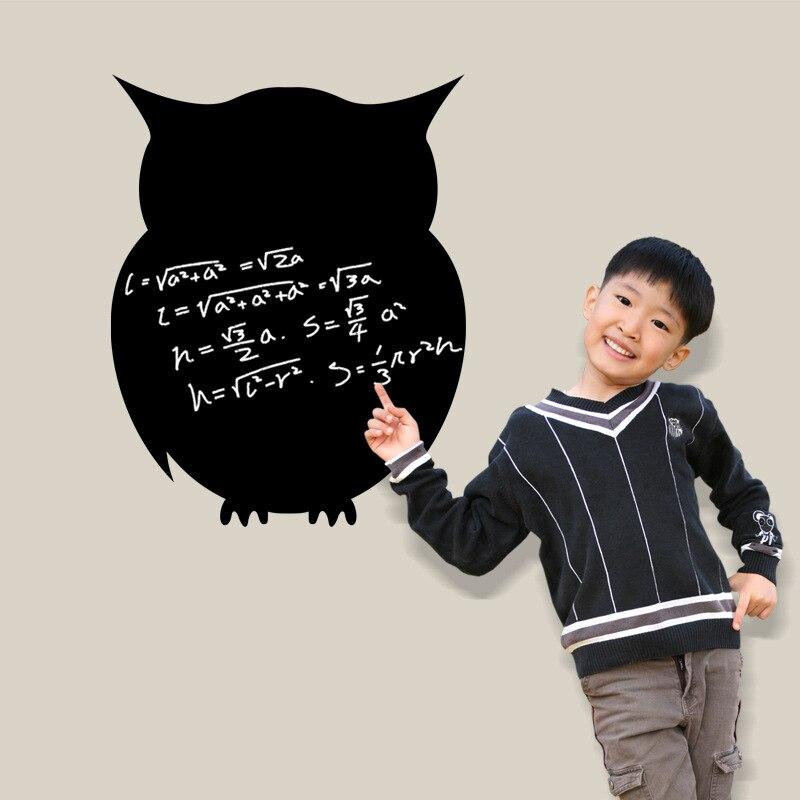 Cute Animal Owl DIY Removable Wall Sticker Nursery Kid Bedroom Blackboard  Art Decor Decal Tip Accessories In Wall Stickers From Home U0026 Garden On ...
