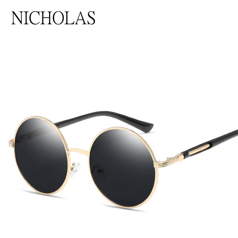 a562a8fcc8d NICHOLAS 2017 Retro Round Sunglasses Women Brand Designer Female Mirror Sun  glasses Ladies Oculos De Sol