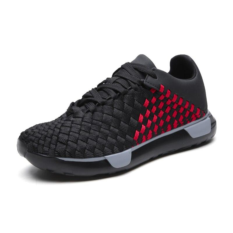 Grande taille 39-44 mode Krasovki hommes chaussures décontractées hommes baskets légères chaussures respirantes volant tissé maille chaussures 5J8213