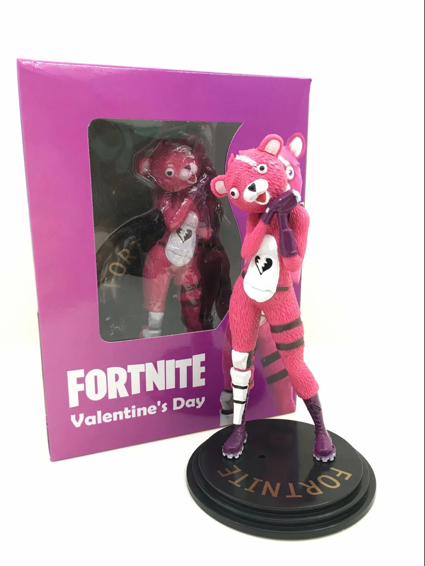 15CM Fortnight Kawaii Action Figure Toy Battle Royale Game Character Pink Bear PVC Dolls Model Toy Best Christmas Gifts