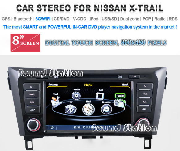 qashqai dvd gps radio for nissan qashqai 2014 car multimedia dvd gps navigation navi nav sat. Black Bedroom Furniture Sets. Home Design Ideas