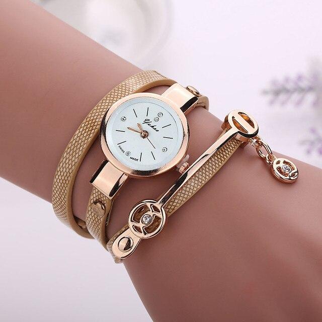 2018 Fashion Women Watch PU Leather Bracelet Watch Casual Women Wristwatch Luxury Brand Quartz Watch Clock Relogio Feminino Gift