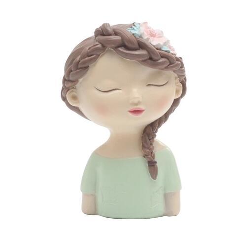 Moule Silicone garçon et fille avec feuilles fleur avatar fait à la main tête d'ange fondant gâteau décoration argile résine arôme pierre moule - 5