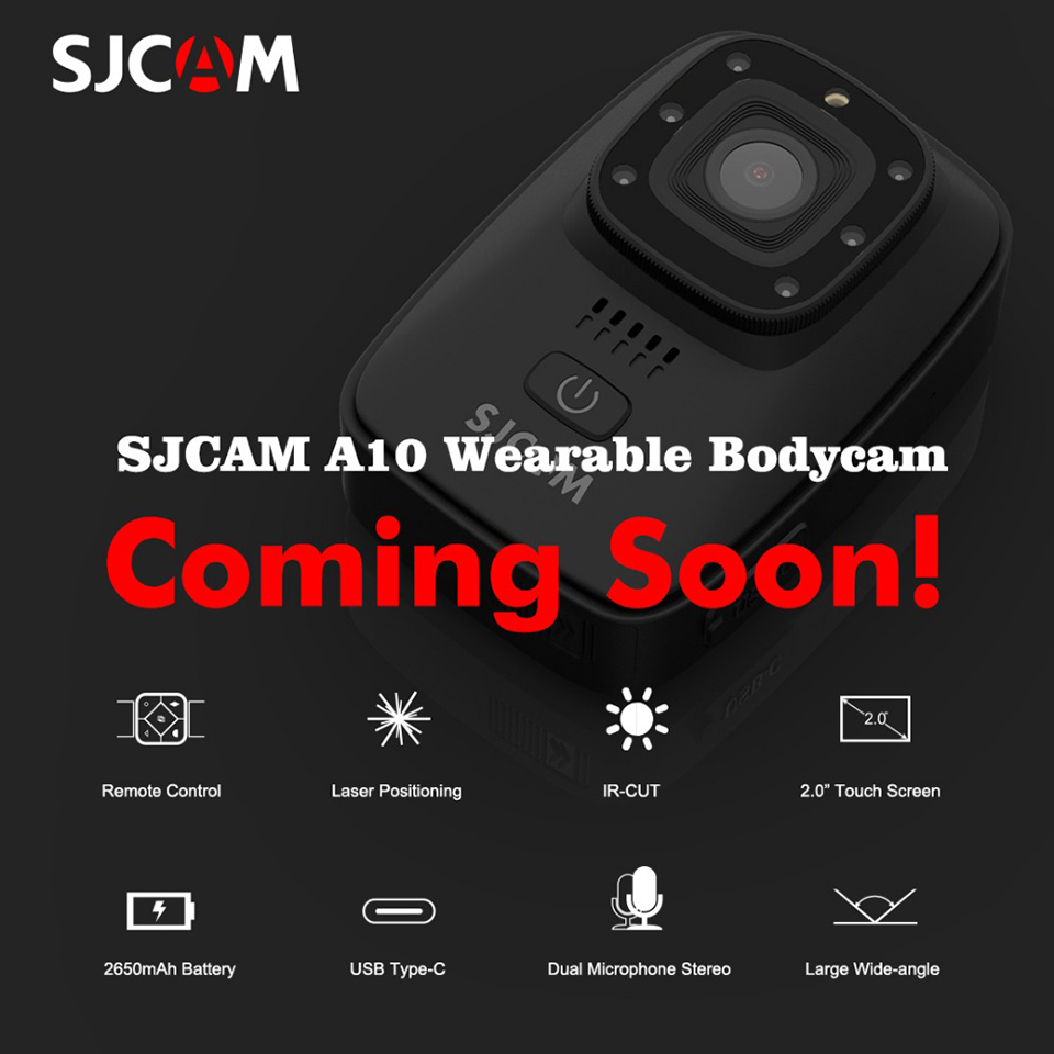 SJCAM A10 Wearable Bodycam Night Vision Laser Lamp Infrared Action Camera 2.0
