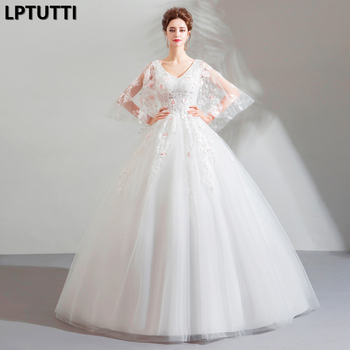 LPTUTTI Beading Lace New Sexy Vintage Plus Size Princess Bridal Marriage Gown Boho Bride Simple Party Long Luxury Wedding Dress