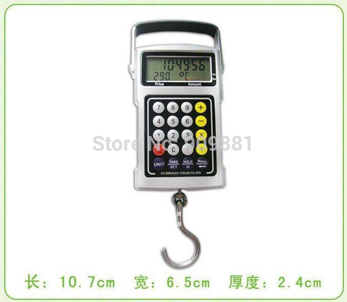 50kg 20g portable digital hanging scale lcd electronic for Fish weight calculator