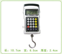 50kg 20g Portable Digital Hanging Scale LCD Electronic Fishing Hook Scales Calculator Clock Thermometer Tape Weight Balance