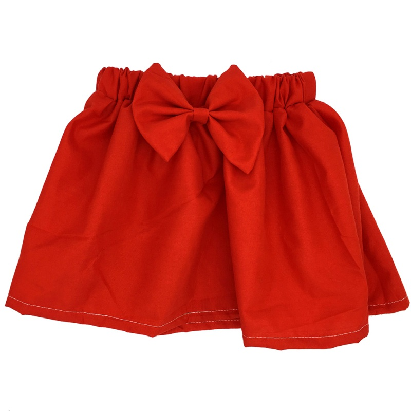Baby Kid Mini Skirt Girl Pleated Fluffy Skirt Party Dance Skirt Solid Bow Printed Skirts