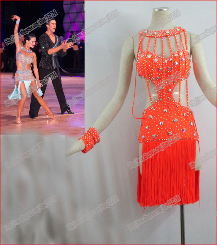 Latin dance/Waltz Tango Ballroom Dance Dress,Girls/Women Modern Dance/Perform Costume/Wear LD-0019