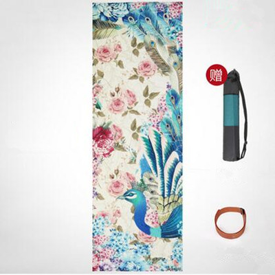 2c391c55436ce Dropwow Yoga Mat Printing Non-slip Green Two Sided Double Color PVC ...