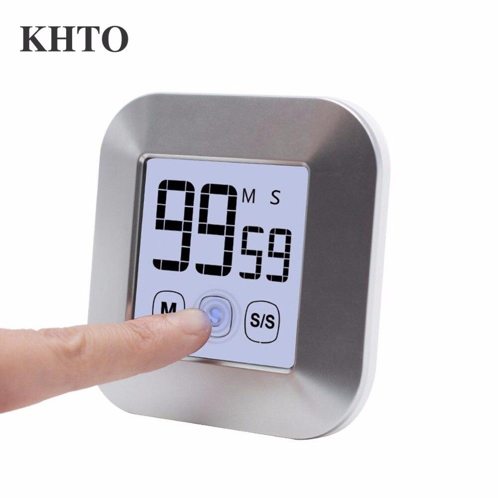 KHTO Touchscreen LCD Digitale Timer Da Cucina Pratico Timer Da ...