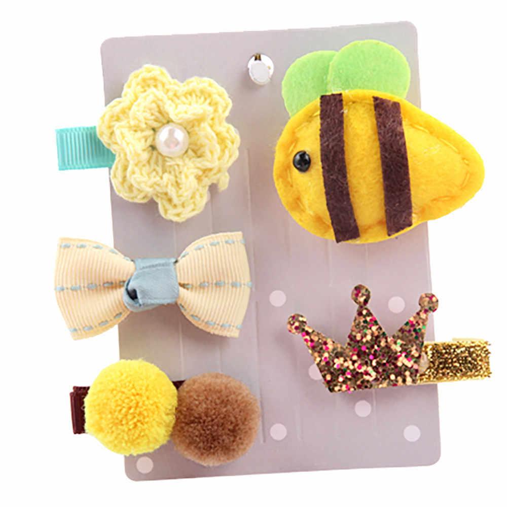 Hot Sale 5 PCS Kids Infant Lovely Cute Fashion Hairpin Baby Girl Cartoon Animal Motifs Clip Set Beautiful Hair Accessories #30