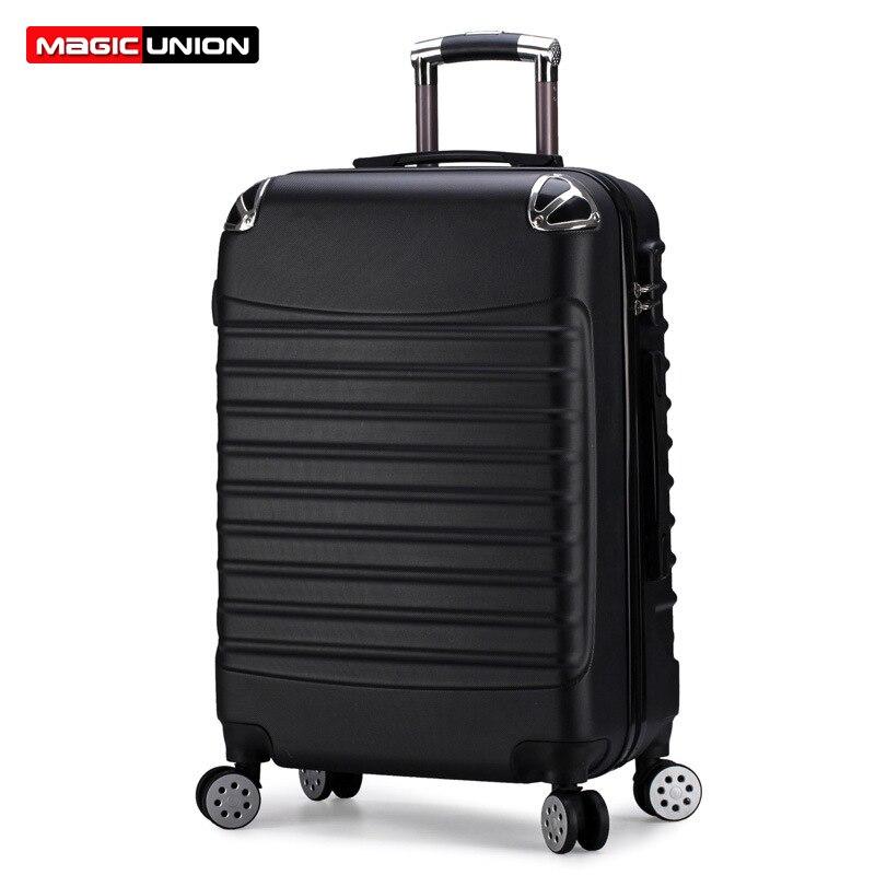 MAGIC UNION Rolling Luggage Bag Women Travel Suitcase on Wheels Long Way Trip Trolley Suitcase Men