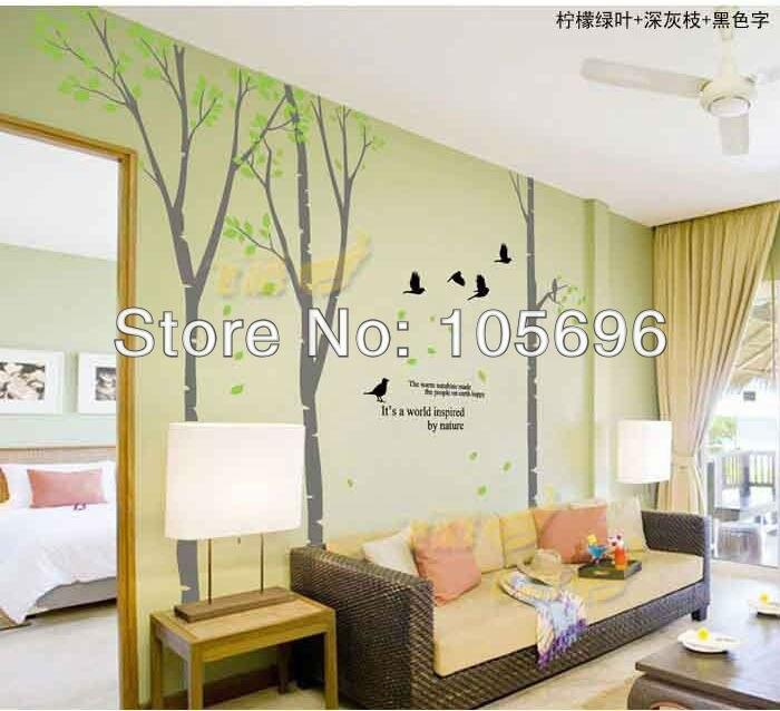 Online Kaufen Großhandel birke vinyl wandtattoo aus China birke ...