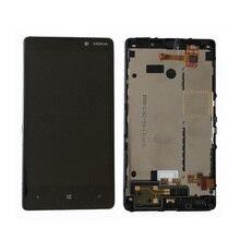Дешевые Оригинальный Для Nokia Lumia 820 ЖК-дисплей Дисплей с Сенсорный экран планшета в сборе с рамкой Бесплатная доставка