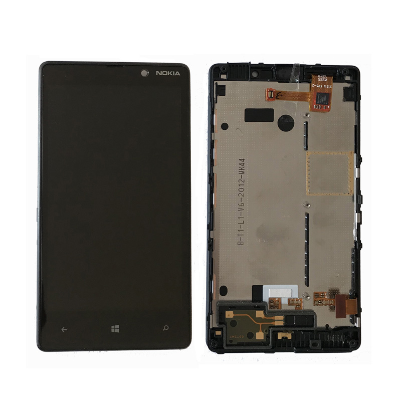 Original For Nokia <font><b>Lumia</b></font> <font><b>820</b></font> LCD Display with Touch <font><b>Screen</b></font> Digitizer Assembly With frame free shipping image