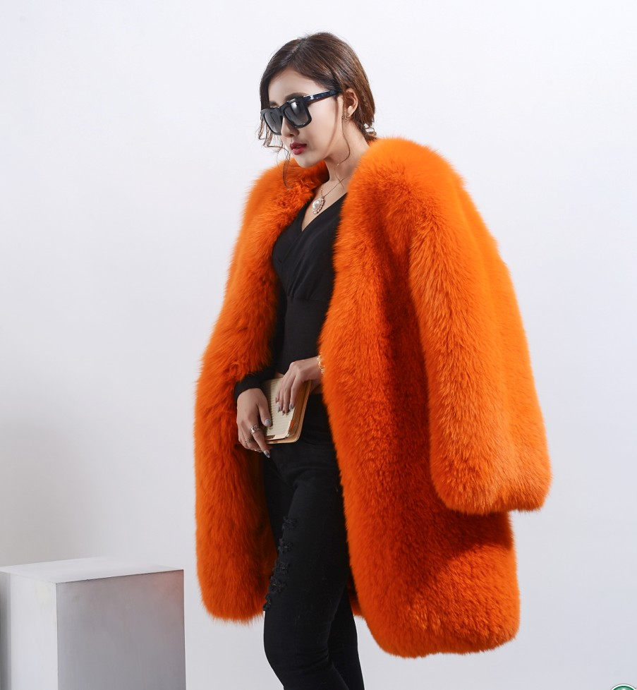 Online Get Cheap Real Fur Coat Orange -Aliexpress.com | Alibaba Group