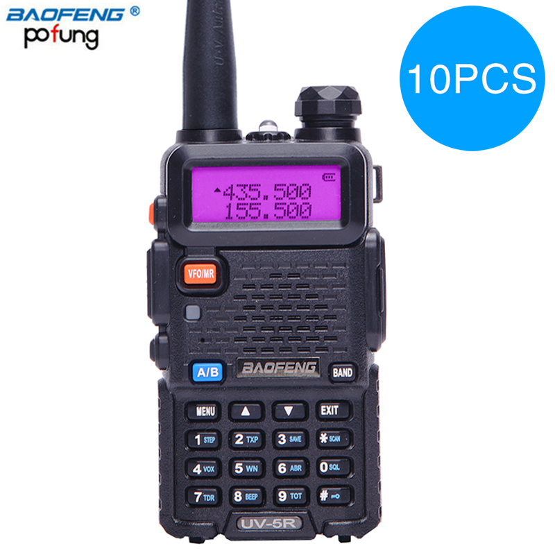 10PCS Baofeng UV 5R Walkie Talkie bf uv5r cb radio handheld long range Comunicador Transmitter Transceiver