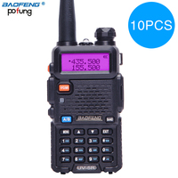 10PCS Baofeng UV 5R Walkie Talkie bf uv5r cb radio handheld long range Comunicador Transmitter Transceiver Two Way Radio+headset