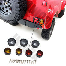 INJORA 7Pcs RC Car Taillight Light Cover for 1:10 RC Crawler RC4WD D90 Body Shell