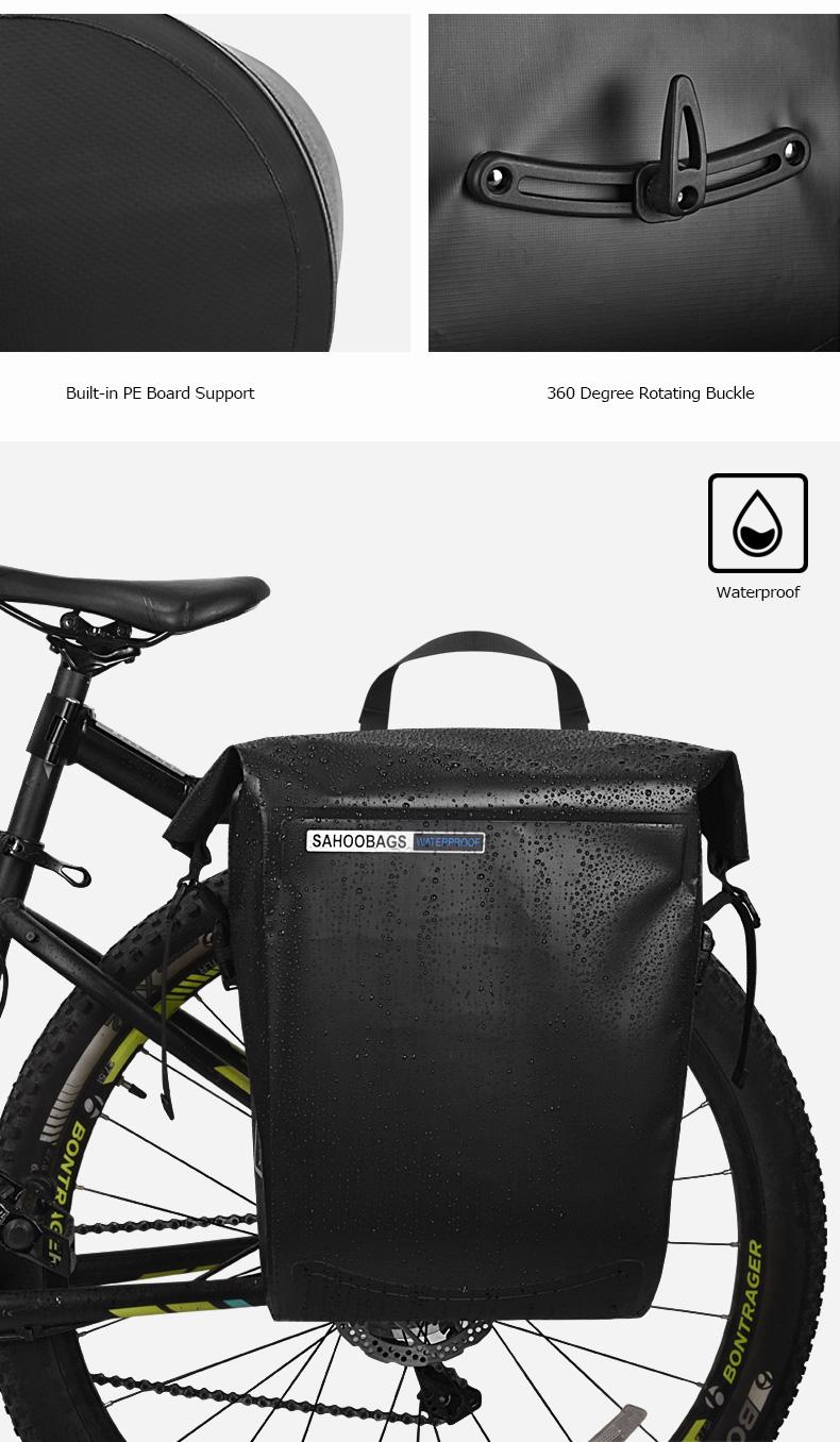 Top Sahoo 141364-SA 20L Full Waterproof Dry Mountain Road Bike Bicycle Cycling Pannier Bag Back Rear Seat Trunk Bag Rack Pack 6