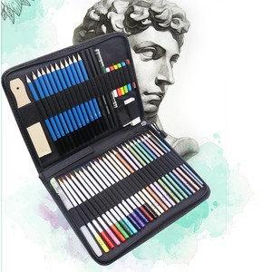 Image 1 - 33 40 51 piece set Sketch Pencil Professional Sketching Drawing Kit Set Wood Pencil Bags Painter School Students Art Supplies