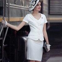 Женский комплект, Офисная Роскошная элегантная Деловая одежда для работы, летняя облегающая одежда, костюм из 2 предметов, одежда, блузка, то