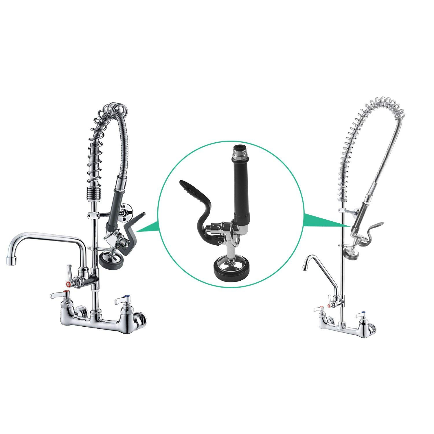 Pre Rinse Sprayer Commercial Kitchen Faucet Parts Chrome Finished (Black) With Steel Stainless Ring And Rubber RingPre Rinse Sprayer Commercial Kitchen Faucet Parts Chrome Finished (Black) With Steel Stainless Ring And Rubber Ring
