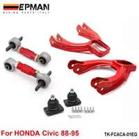 Rear Lower Control Arms+ Front Camber Kits Fits For 92-95 Honda Civic EG EJ EH EP-FCACA-01EG